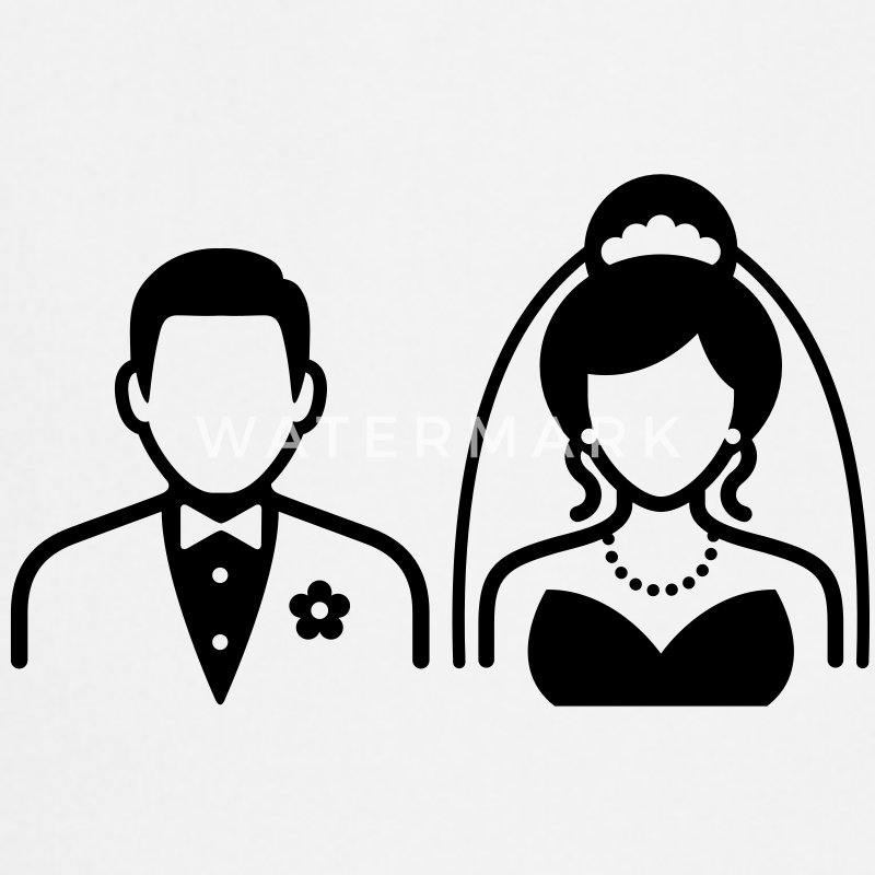 Wedding Couple (1c)++ Kookschorten - Keukenschort