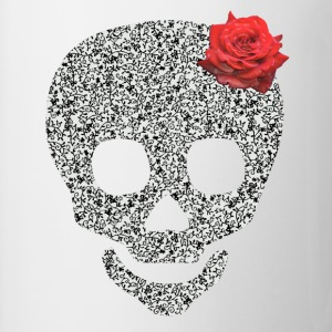 skull and rose Buttons - Mug