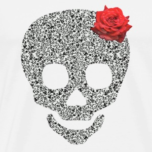 skull and rose Buttons - Men's Premium T-Shirt