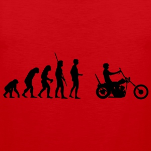 Chopper Evolutie  T-shirts - Mannen Premium tank top