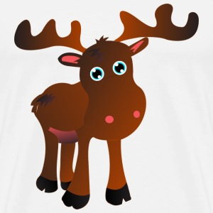 cute moose Sweaters - Mannen Premium T-shirt