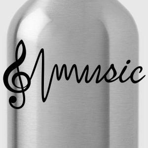 Treble Clef with the word music T-Shirts - Water Bottle