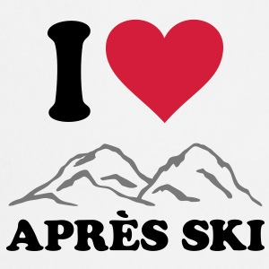 I love Apres Ski Mountains, Heart, skiing party T-Shirts - Cooking Apron