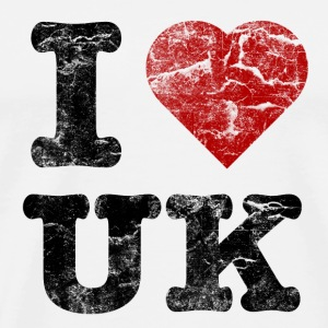i_love_uk_vintage Flaskor & muggar - Premium-T-shirt herr