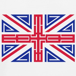 Tribal British Flag I-Phone case - Men's Premium T-Shirt