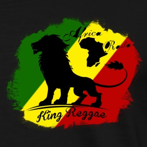africa rasta king reggae Jackets & Vests - Men's Premium T-Shirt