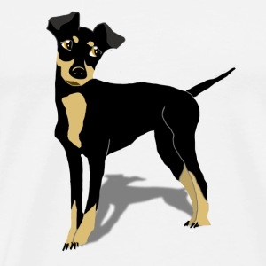 a coffee like a pinscher to go - Männer Premium T-Shirt