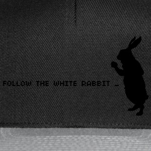 Follow the white rabbit - Snapback Cap