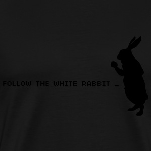 Follow the white rabbit Felpe - Maglietta Premium da uomo