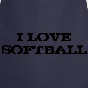 i_love_softball Sweat-shirts - Tablier de cuisine