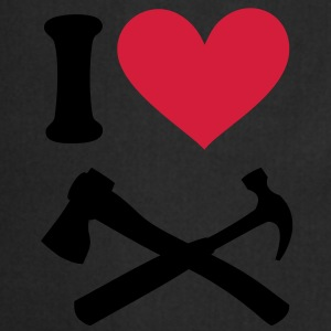 I love Carpenter. Hammer and Hatchet Ax axe T-Shirts - Cooking Apron