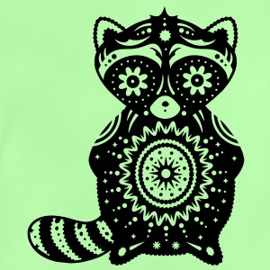 A raccoon in the style of Sugar Skulls Hoodies - Baby T-Shirt