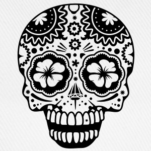 A laughing skull in the style of Sugar Skulls Hoodies - Baseball Cap