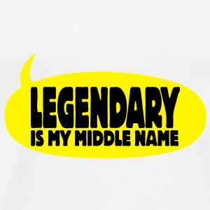 legendary is my middle name I Flaskor & muggar - Premium-T-shirt herr