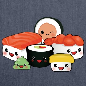 happy Sushi Family T-Shirts - Schultertasche aus Recycling-Material