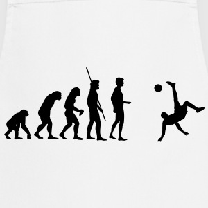 Evolution bicycle kick  T-Shirts - Cooking Apron