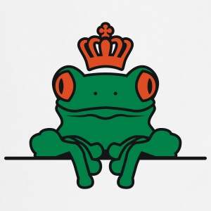Frosch | Krone | Frog | Crown T-Shirts - Tablier de cuisine