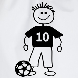 soccer player with ball - Turnbeutel