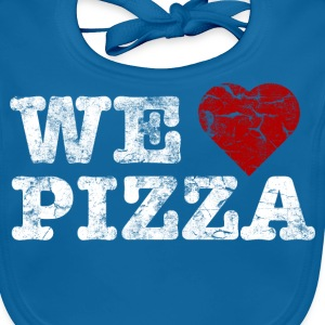 we_love_pizza_vintage_hell T-shirts - Ekologisk babyhaklapp