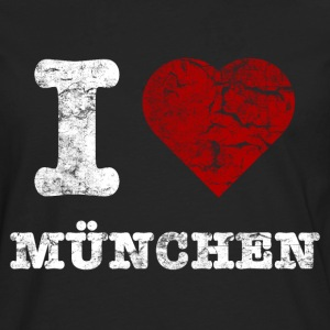 i_love_muenchen_vintage_hell Sweat-shirts - T-shirt manches longues Premium Homme