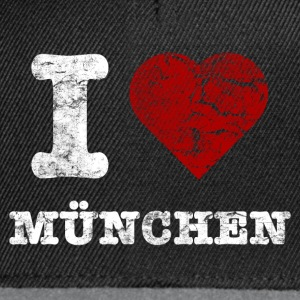 i_love_muenchen_vintage_hell Sweaters - Snapback cap