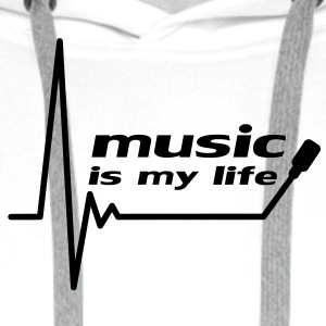 music_is_my_life T-shirts - Herre Premium hættetrøje