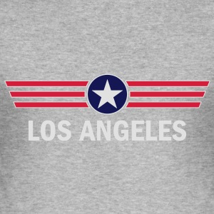 Los Angeles Hoodie - Männer Slim Fit T-Shirt