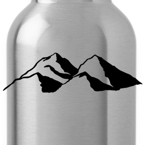 Mountain Mountains Rock mass range chain T-Shirts  - Water Bottle