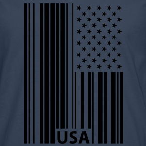 USA Barcode Flag T-Shirts - Men's Premium Longsleeve Shirt
