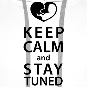 keep calm and stay tuned T-Shirts - Premiumluvtröja herr