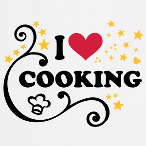 I love Cooking Chef´s hat Cook Chef heart T-Shirt - Cooking Apron