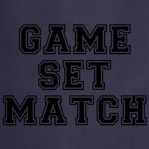 game set match T-shirts - Keukenschort