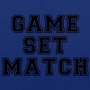 game set match T-shirts - Tygväska
