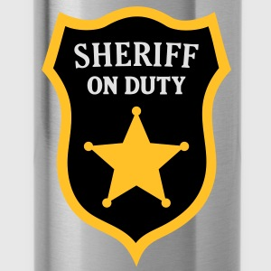Sheriff on Duty. Police Officer Polo Shirts - Water Bottle