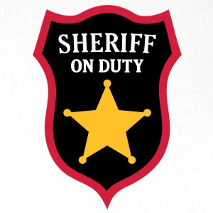 Sheriff on Duty - COP Star T-Shirts - Men's Premium Hoodie