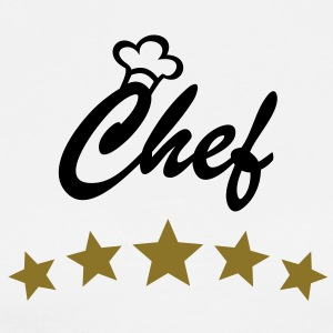 Chef with Chef´s hat and 5 stars.   Aprons - Men's Premium T-Shirt