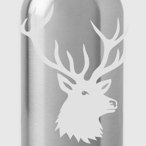 stag deer moose elk antler antlers horn horns buck Shirts - Water Bottle