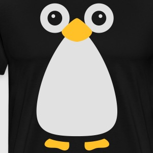 Cute Vector Penguin Cooking Apron - Men's Premium T-Shirt