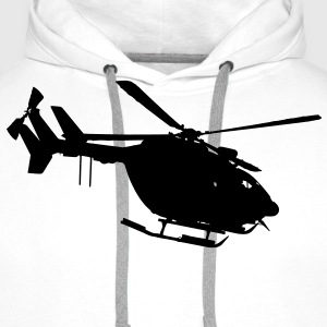 civil security helicopter ec 145 T-Shirts - Men's Premium Hoodie