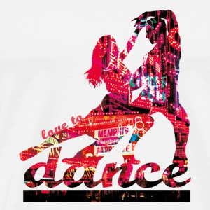 love to dance Buttons / Anstecker - Mannen Premium T-shirt