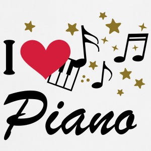 I love Piano T-Shirts - Cooking Apron