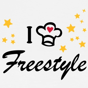 I love freestyle cooking. Cook, Chef  Aprons - Men's Premium T-Shirt