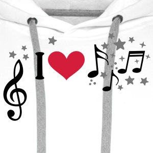 I love music. Add your own text, star, T-Shirts - Men's Premium Hoodie