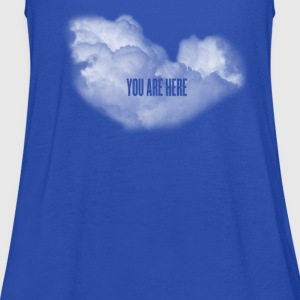 cloud you are here Shirts - Women's Tank Top by Bella