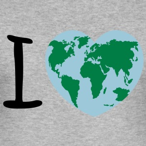 I love Earth Pullover & Hoodies - Männer Slim Fit T-Shirt