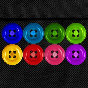 fake buttons: rainbow T-shirt - Kids' Backpack