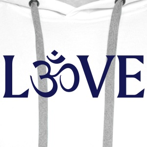 Love with the Symbol OM.  T-Shirts - Men's Premium Hoodie