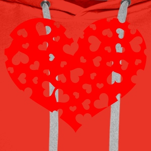 A Hundred Hearts (v1, 1c, MPnl) - Mannen Premium hoodie