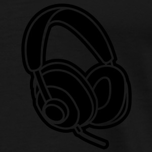 Audiophile Headphones Music Player Beat Bass DJ Sweat-shirts - T-shirt Premium Homme
