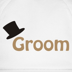 White Groom Underwear - Baseball Cap